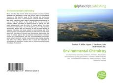 Bookcover of Environmental Chemistry