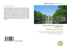 Bookcover of History of Dutch