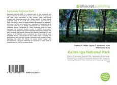 Bookcover of Kaziranga National Park