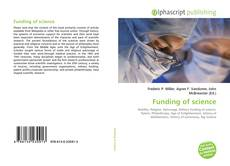 Bookcover of Funding of science