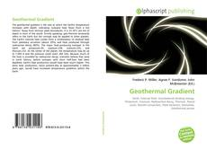 Bookcover of Geothermal Gradient