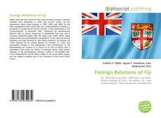 Bookcover of Foreign Relations of Fiji
