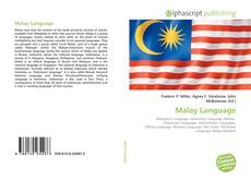 Malay Language kitap kapağı