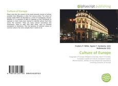 Bookcover of Culture of Europe