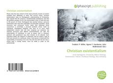 Bookcover of Christian existentialism