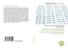 Bookcover of Joseph Louis Lagrange