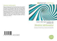Bookcover of Absolute (philosophy)