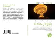 Buchcover von Electricity on Shabbat in Jewish law