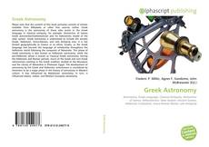 Bookcover of Greek Astronomy