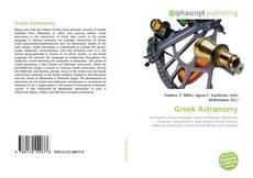 Capa do livro de Greek Astronomy