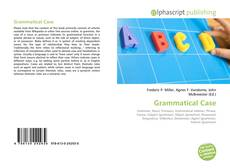 Couverture de Grammatical Case