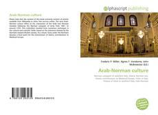 Bookcover of Arab-Norman culture