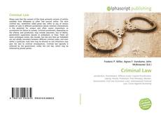 Bookcover of Criminal Law