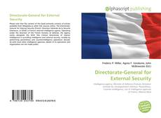 Bookcover of Directorate-General for External Security