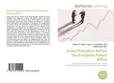 Copertina di Grant Procedure Before the European Patent Office