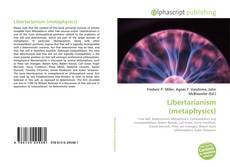 Copertina di Libertarianism (metaphysics)