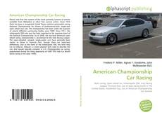 Bookcover of American Championship Car Racing