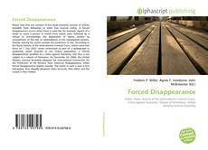 Bookcover of Forced Disappearance