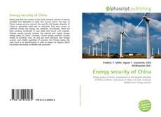 Capa do livro de Energy security of China
