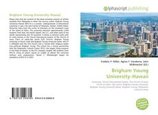 Bookcover of Brigham Young University–Hawaii