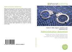 Portada del libro de Administrative detention