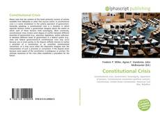 Bookcover of Constitutional Crisis