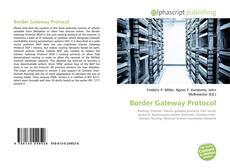 Border Gateway Protocol kitap kapağı