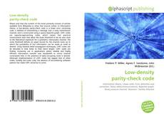 Bookcover of Low-density parity-check code