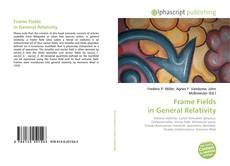 Buchcover von Frame Fields in General Relativity