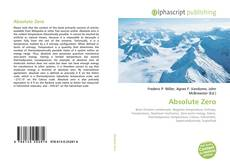 Bookcover of Absolute Zero
