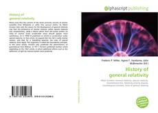 Buchcover von History of general relativity