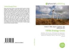 Capa do livro de 1970s Energy Crisis