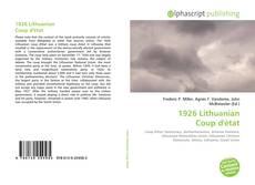 Bookcover of 1926 Lithuanian Coup d'état