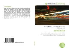 Bookcover of Lotus Elise