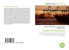 Bookcover of Factors of Production
