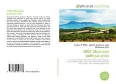 Portada del libro de 2008 Ukrainian political crisis