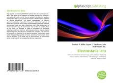 Bookcover of Electrostatic lens