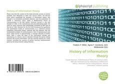 Capa do livro de History of information theory