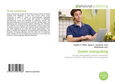 Bookcover of Green computing