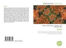 Bookcover of Batik