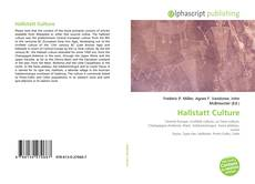 Bookcover of Hallstatt Culture