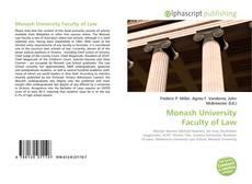 Copertina di Monash University Faculty of Law