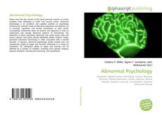 Bookcover of Abnormal Psychology
