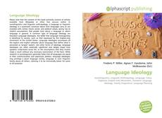 Bookcover of Language Ideology