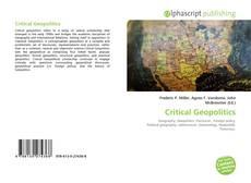 Bookcover of Critical Geopolitics