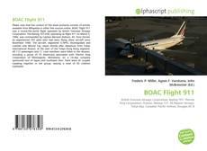 Buchcover von BOAC Flight 911