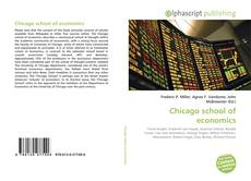 Bookcover of Chicago school of economics