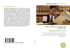 Bookcover of Competition law