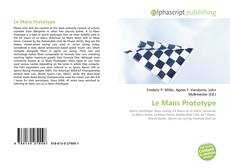 Capa do livro de Le Mans Prototype