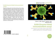 ELISA (Enzyme-linked immunosorbent assay) kitap kapağı